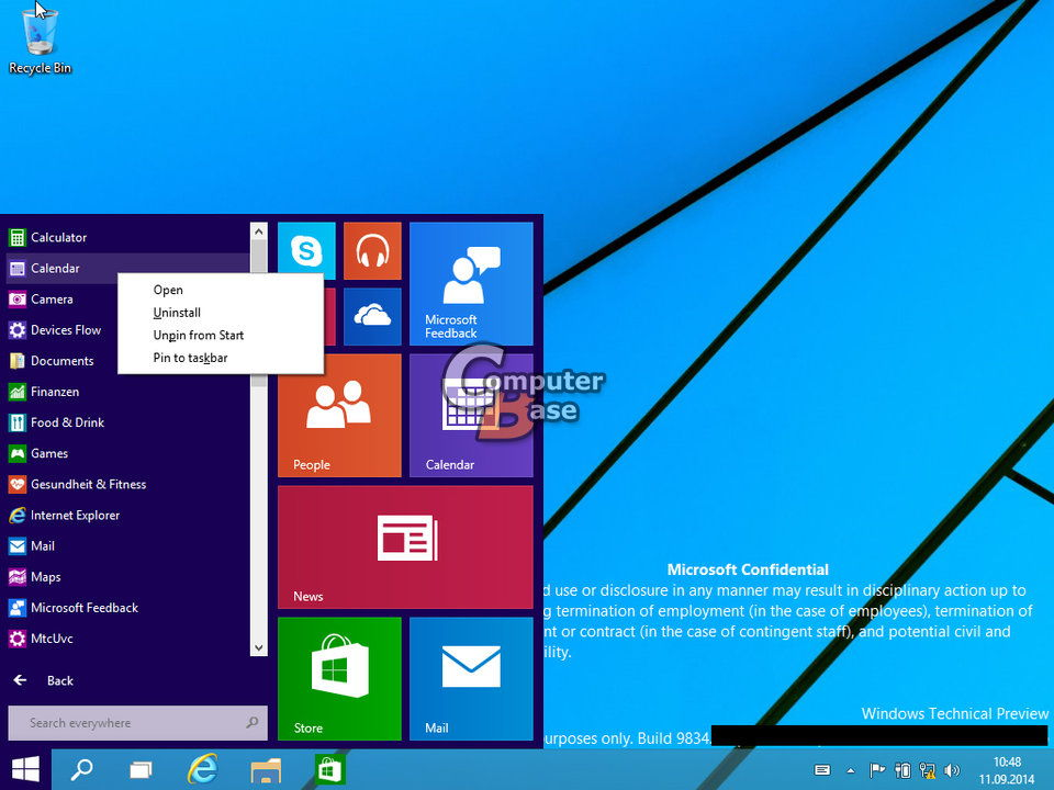Windows 10 die ersten Bilder der Build 9834