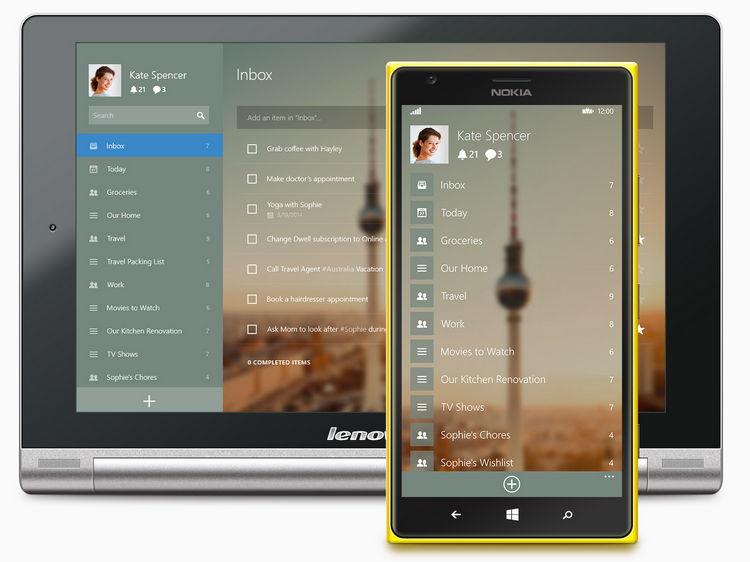 Wunderlist nun offiziell in Version 3 released für Windows und Windows Phone