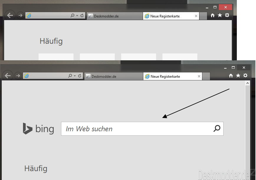 KB2987107 für den Internet Explorer 11 bringt die Bing Suchleiste mit. Diese kann man aber auch entfernen