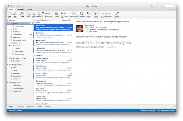 Neues Outlook für den Mac veröffentlicht