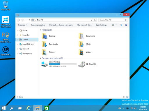 Ribbon Disabler und Explorer Tile Remover nun auch für Windows 10