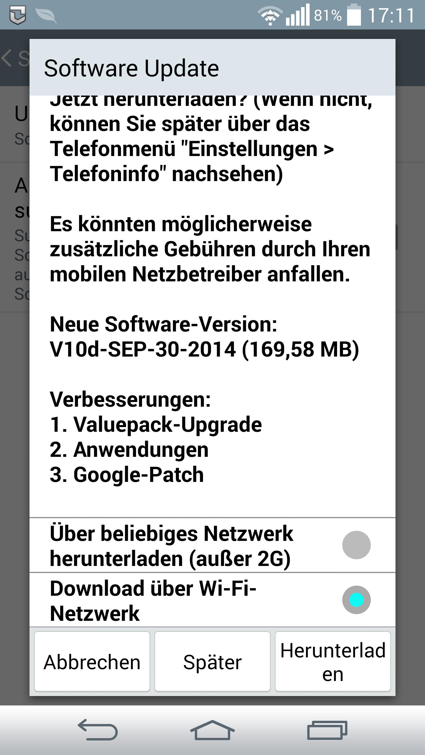 LG G3 mit Telekom-Branding erhält September-Update