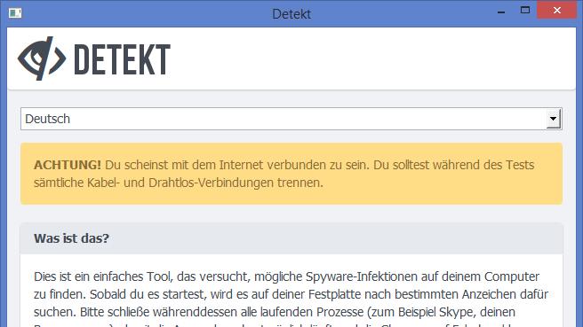 """Freeware-Tool """"Detekt"""" sucht nach Staatstrojanern auf eurem Rechner"""