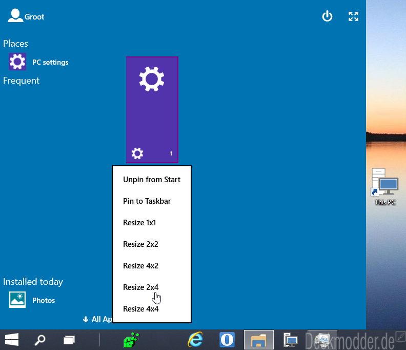 Neues Startmenü versteckt in der Windows 10 Build 9879 (Video)