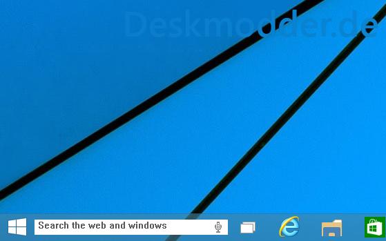 Windows 10: Verstecktes Suchfeld in der Taskleiste aktivieren
