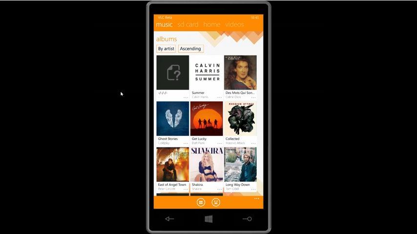 VLC für das Windows Phone in einem kleinen Video