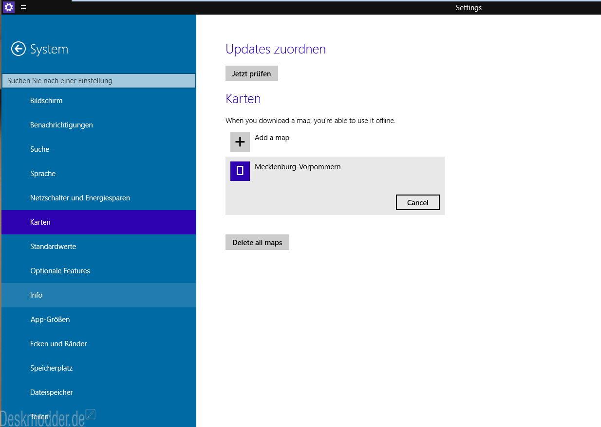Windows 10 Build 9888 in deutsch einmal genauer angeschaut Teil 3 – Einstellungen
