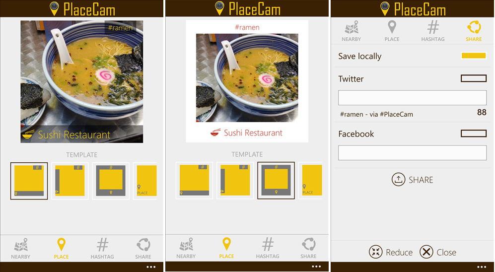 App des Tages: PlaceCam -Bilder mit einem Rahmen und Text ausstatten Windows Phone