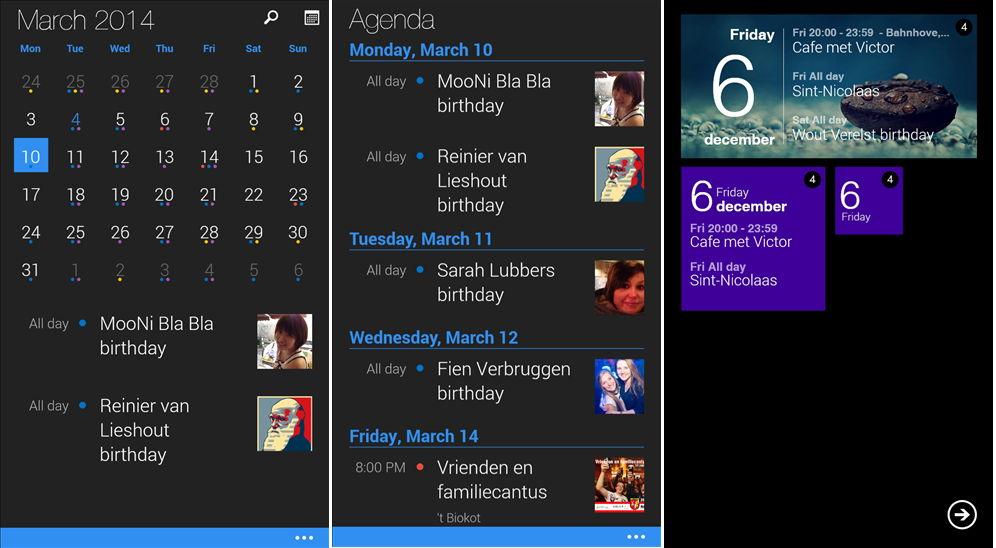 App des Tages: Cal der Kalender für das Windows Phone heute kostenlos