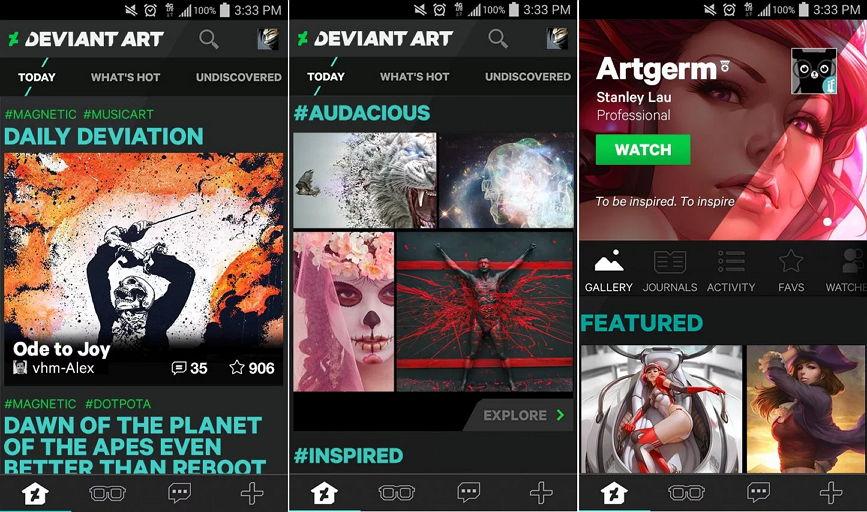 DeviantArt nun auch über iOS und Android mit einer App erreichbar