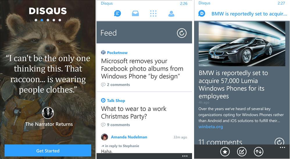 Disqus für das Windows Phone mit einem Update