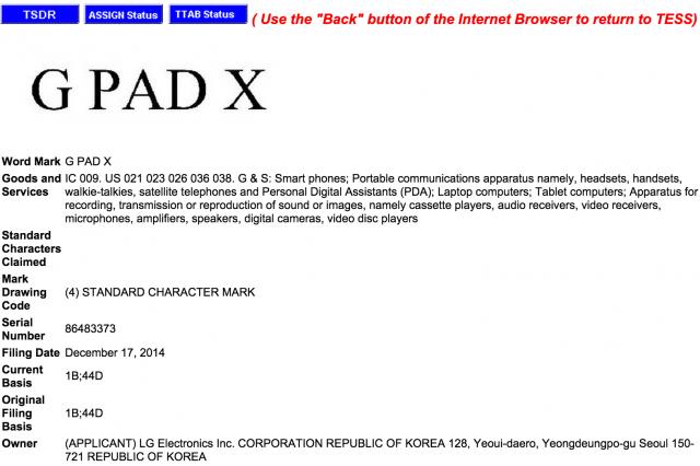 LG G Pad X – Bringt LG demnächst ein neues Highend-Tablet ?