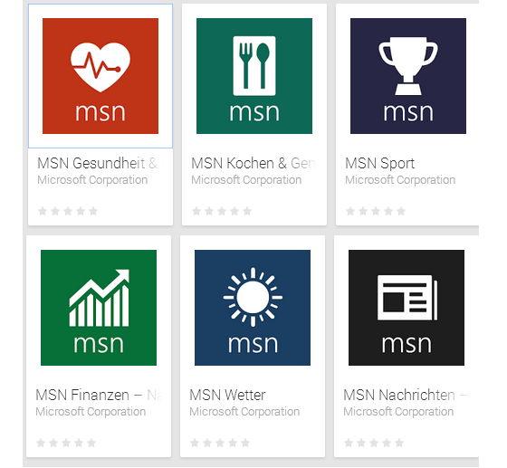MSN Apps nun auch für Android und iOS