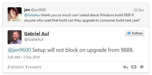 Windows 10 Build 9888 bekommt ohne Probleme auch weitere Updates