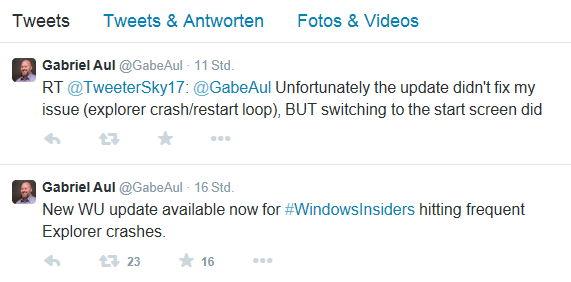Windows 10 Build 9879 mit einem Update für die explorer.exe und ein Tipp