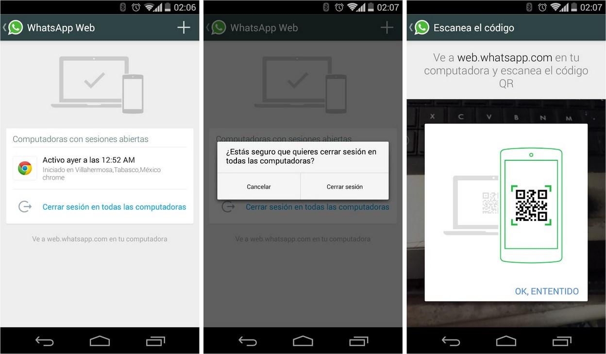 Screenshots sollen Webversion von WhatsApp zeigen