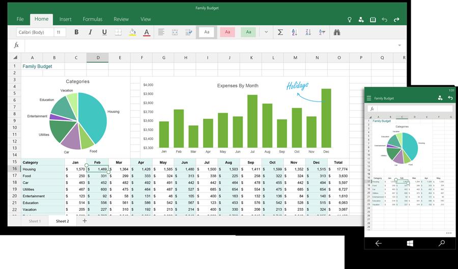 Microsoft zeigt die Bilder der nächsten Office Universal Apps (Video)
