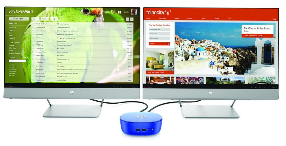 HP Stream Mini Desktop für 2 Monitore angekündigt