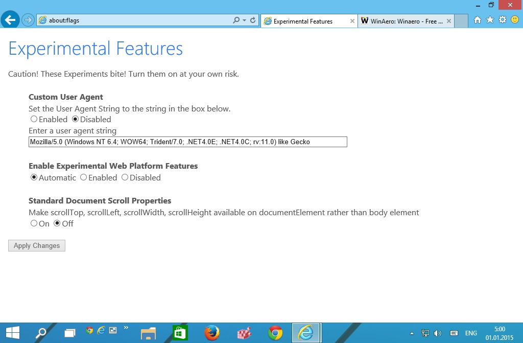 Windows 10: Neue Trident-Engine im Internet Explorer 11 aktivieren