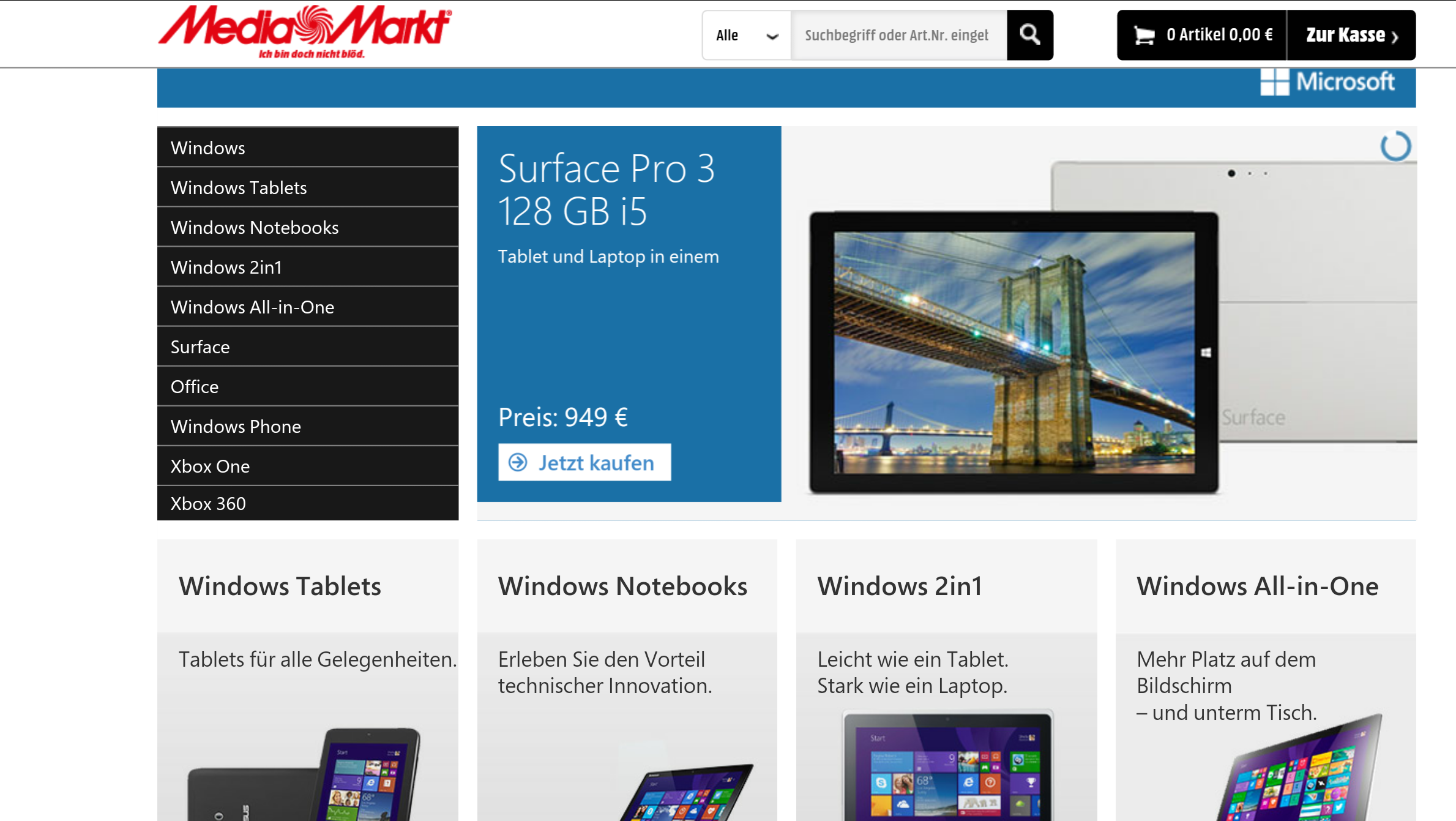 media markt online nun mit separatem microsoft shop. Black Bedroom Furniture Sets. Home Design Ideas
