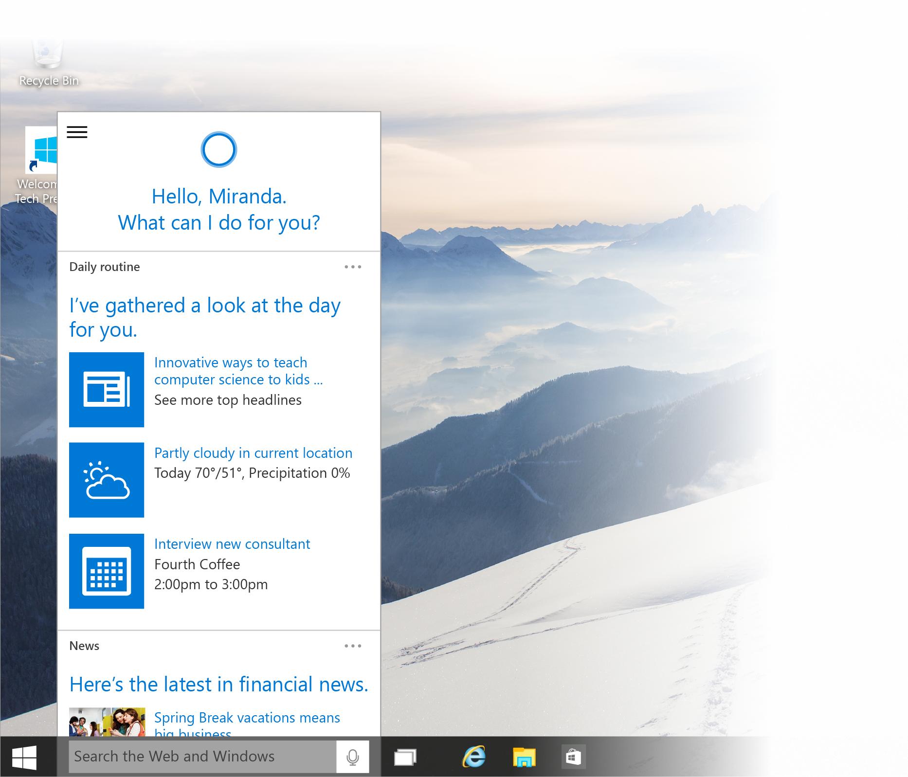 Windows 10: Das sind die Neuerungen in der Windows 10 Januar Preview