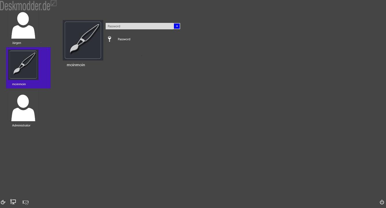 Neuer Anmelde- und Sperrbildschirm in der Windows 10 versteckt