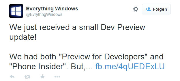 "Windows Phone: ""Phone Insider""  ersetzt die ""Preview for Developers"" App"