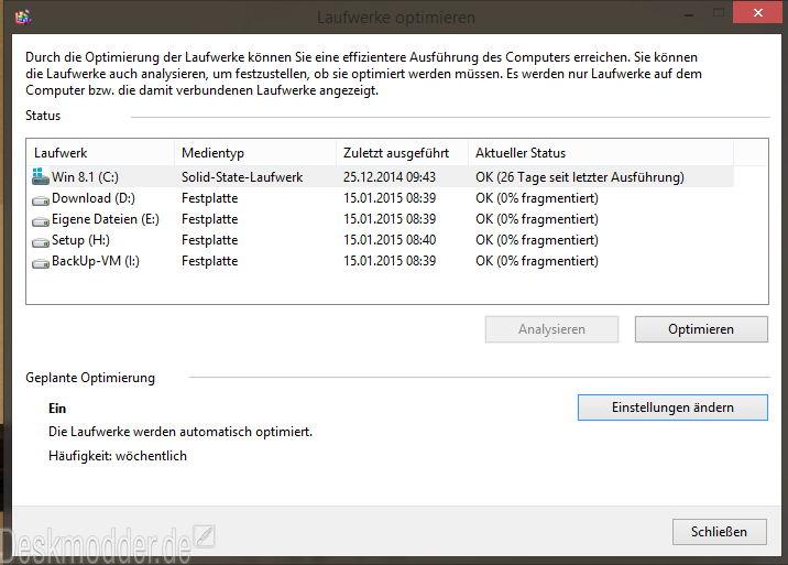 Eine SSD in Windows wird nicht defragmentiert? Doch wird sie!