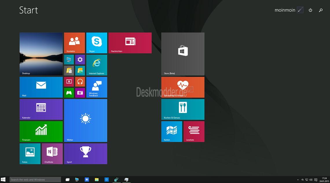 Den Windows 10 Startbildschirm wieder aktivieren