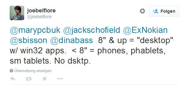 Tablets bis 8 Zoll bekommen keinen Desktop