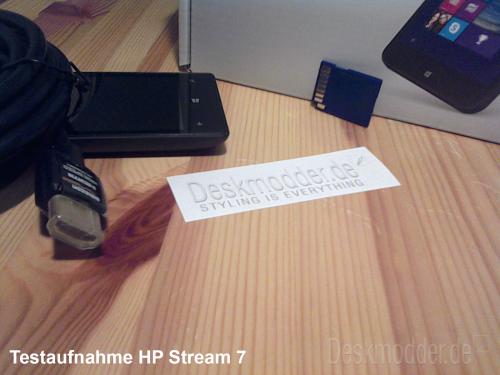 testaufnahme hp stream 7