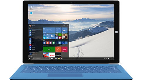 Windows 10 mit transparenter Taskleiste und Startmenü