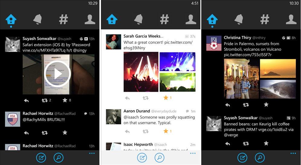Mit Cortana lässt sich nun auch twittern in der neuen Windows Phone App