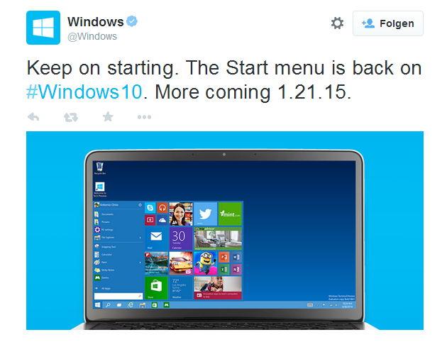 Microsoft startet langsam die Werbetrommel für Windows 10