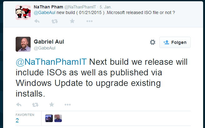 Windows 10 Januar Build kommt auch als ISO