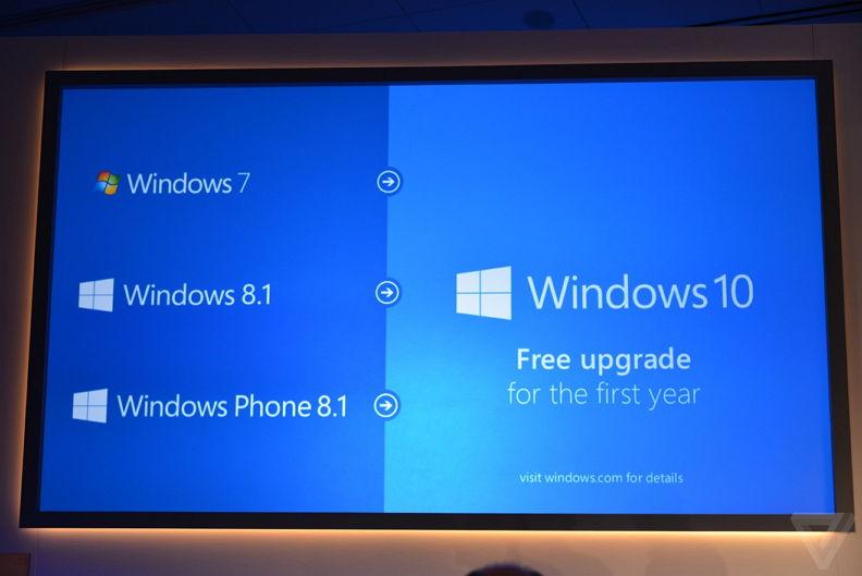 Windows 10 wird kostenlos im ersten Jahr nach Erscheinen für Windows 7 und Windows 8.1 [Update]