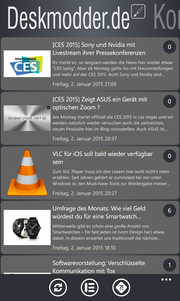 Update für die Deskmodder.de-App auf Version 1.3