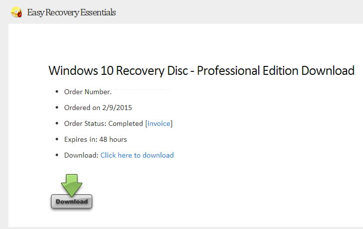 easy recovery essentials download windows 10