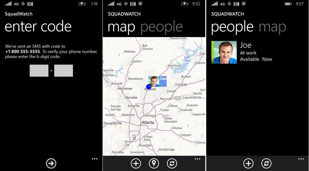 SquadWatch auch als People Sense bekannt ersetzt Räume und Gruppen Funktion im Windows Phone