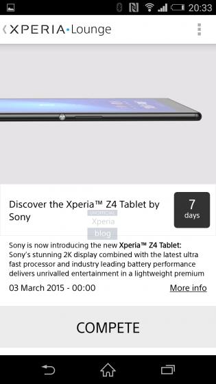 Sony Xperia Tablet Z4 zeigt sich mit 2k Display