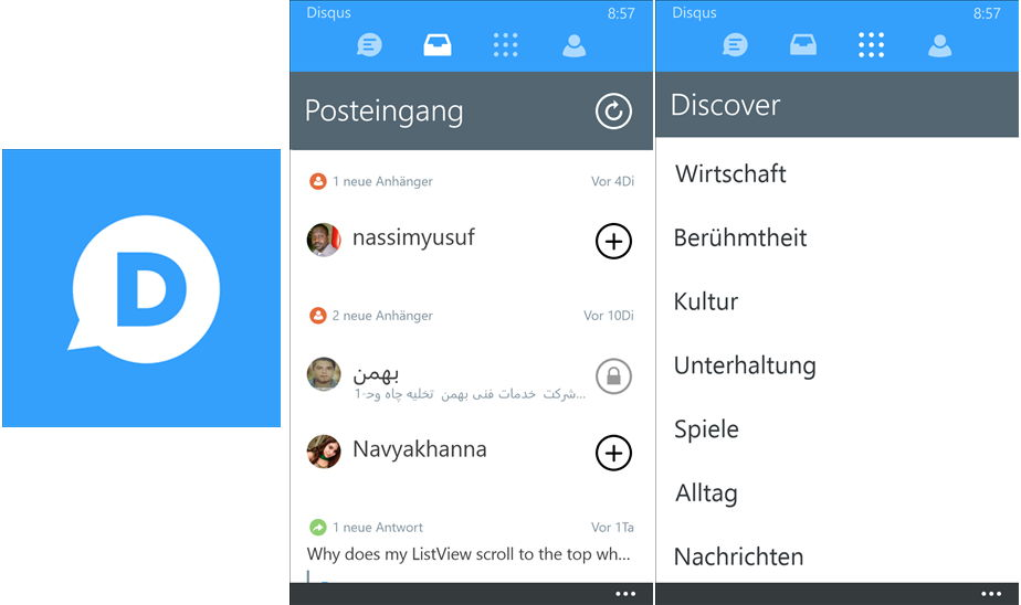 Disqus als Windows Phone App mit einigen neuen Features
