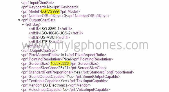 LG G4 – LG VS999 Smartphone mit 2880 x 1620 Pixeln im Netz aufgetaucht