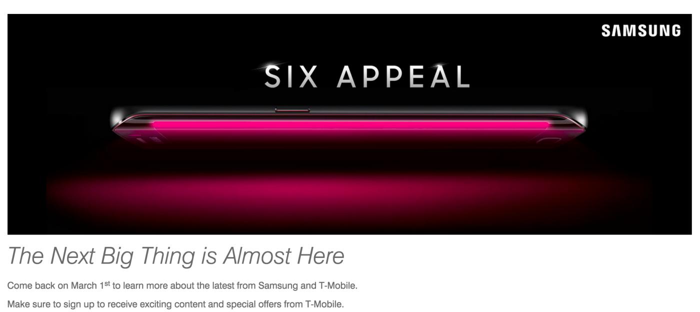 Samsung Galaxy S6 – T-Mobile USA zeigt erstes Pressebild