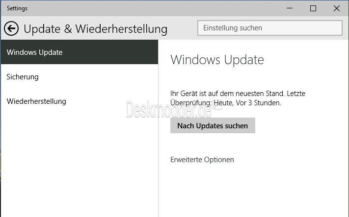 Windows 10 Einstellungen (settings) direkt aufrufen