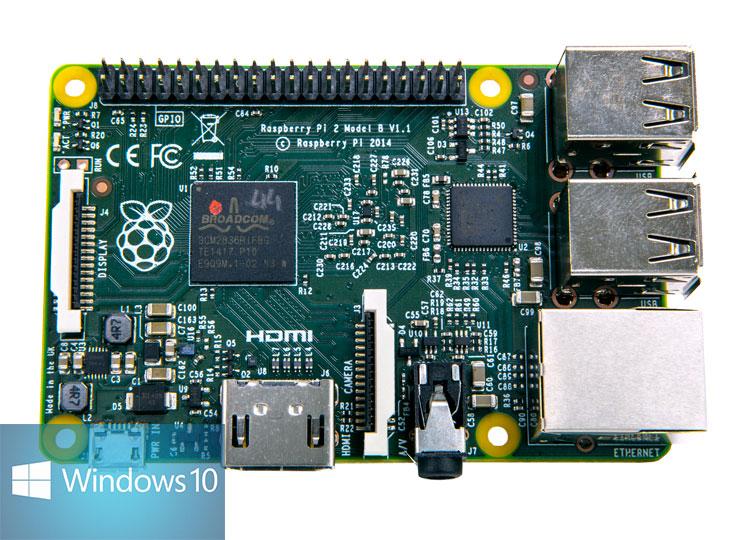 Microsoft unterstützt Raspberry Pi 2 mit kostenlosem Windows 10 IoT