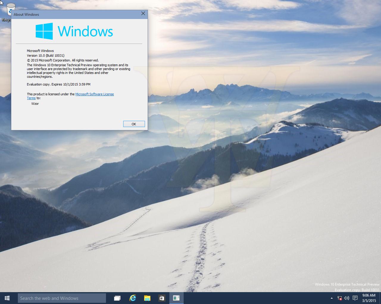 Windows 10 – Neue Screenshots der Build 10031 und Release-Notes veröffentlicht