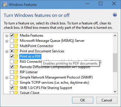 Windows 10 bekommt Drucken als PDF als native Funktion spendiert