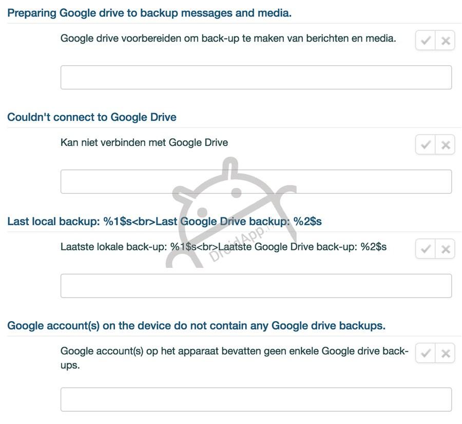 WhatsApp demnächst mit Backupfunktion per Google Drive