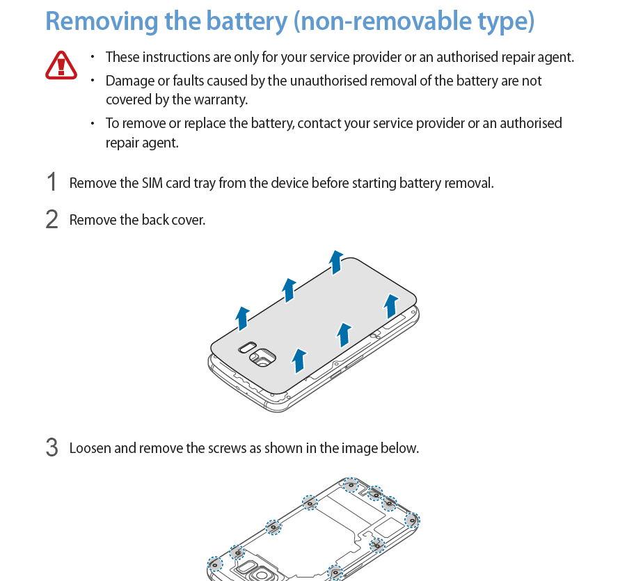 Galaxy S6 Fest eingebaute Batterie lässt sich doch entfernen und austauschen