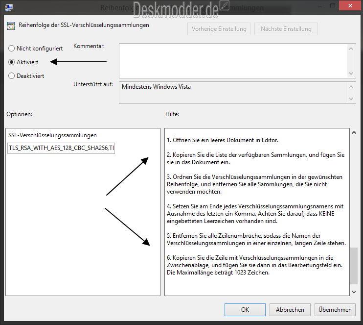 Freak Sicherheitslücke überprüfen und Einstellungen, die Microsoft empfiehlt [Update 2]